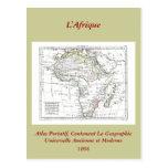 1806 mapa - L'Afrique Tarjeta Postal