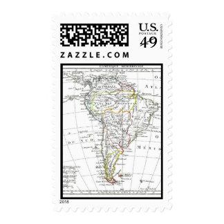 1806 mapa - L'Amérique Méridionale Sello