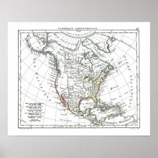 1806 mapa - L'Amérique Septentrionale Posters