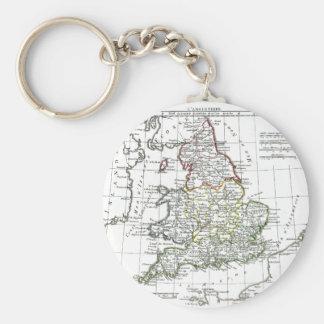 1806 mapa - L'Angleterre Llavero Personalizado