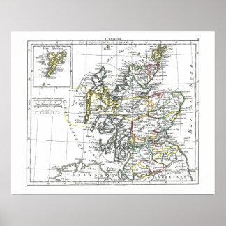 1806 mapa - L'Ecosse Impresiones
