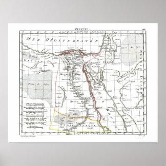 1806 mapa - L'Egypte Posters