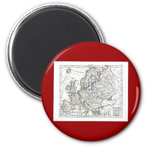 1806 mapa - L'Europe Imán Redondo 5 Cm