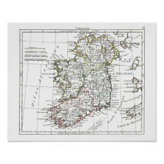 1806 mapa - L'Irlande Posters