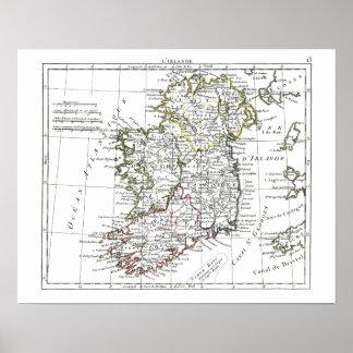 1806 mapa - L'Irlande Poster