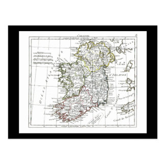 1806 mapa - L'Irlande Tarjeta Postal