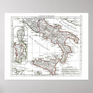 1806 mapa - L'Italie 2e Feuille Impresiones