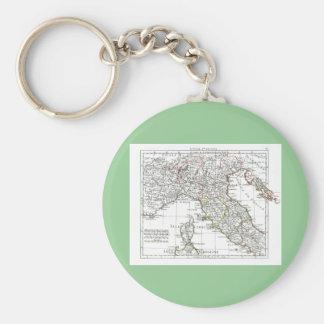 1806 mapa - L'Italie (Nord) Llaveros Personalizados