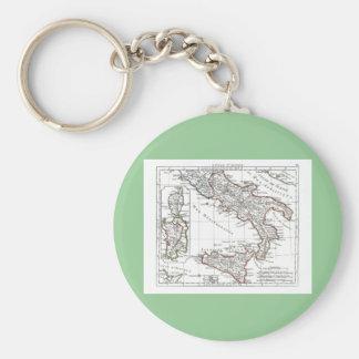 1806 mapa - L'Italie (Sud) Llavero Personalizado