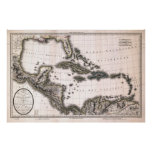 1806 West Indies and Gulf Map Poster
