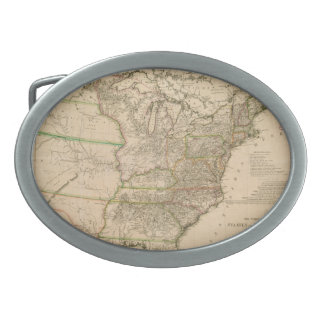 1809 Map of the United States of North America Belt Buckles