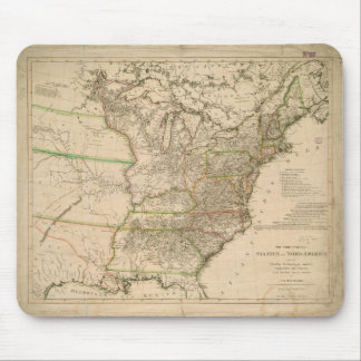 1809 Map of the United States of North America Mouse Pad