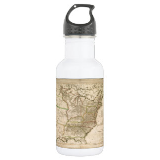1809 Map of the United States of North America 18oz Water Bottle