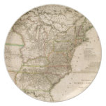 1809 Map of the United States of North America Party Plates