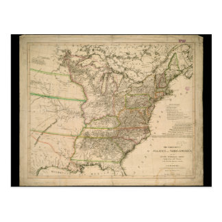 1809 Map of the United States of North America Postcard