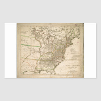 1809 Map of the United States of North America Rectangular Sticker