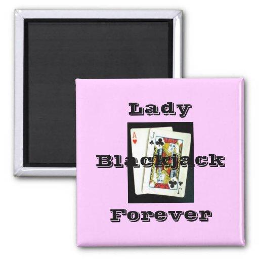180px-Blackjack, señora, para siempre, veintiuna Imán De Frigorifico