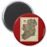 1813 Ireland Map by John Pinkerton 2 Inch Round Magnet