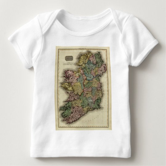 1813 Ireland Map by John Pinkerton Baby T-Shirt
