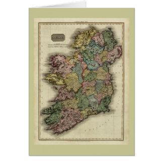 1813 Ireland Map by John Pinkerton Greeting Card