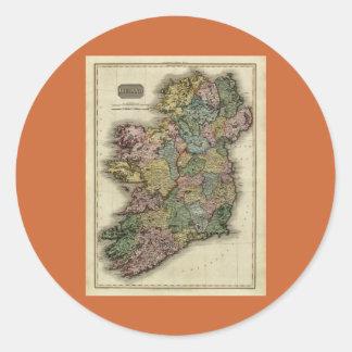 1813 Ireland Map by John Pinkerton Classic Round Sticker