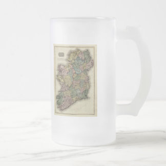 1813 Ireland Map by John Pinkerton Frosted Glass Beer Mug