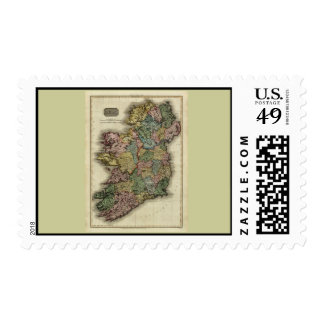 1813 Ireland Map by John Pinkerton Postage Stamp
