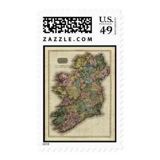 1813 Ireland Map by John Pinkerton Postage Stamps
