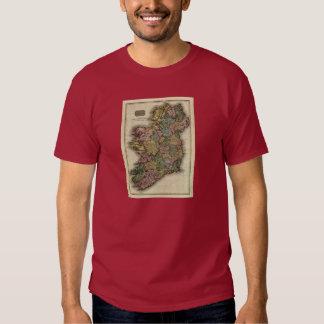 1813 Ireland Map by John Pinkerton T-shirt