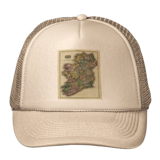 1813 Ireland Map by John Pinkerton Trucker Hat