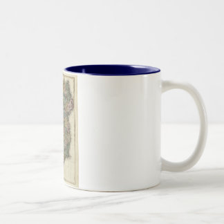 1813 Ireland Map by John Pinkerton Two-Tone Coffee Mug