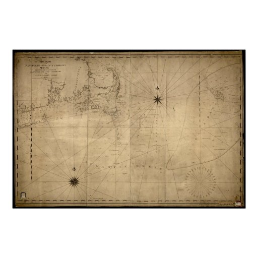 1813 Map of Nantucket Shoals & George's Bank, MA Print