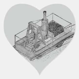 1813 Puffing Billy Heart Sticker