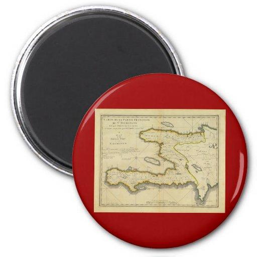 1814 Haiti Map by Mathew Carey 2 Inch Round Magnet