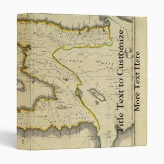 1814 Haiti Map by Mathew Carey 3 Ring Binder