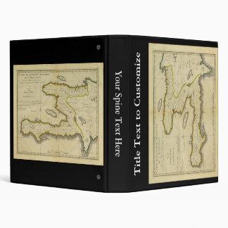 1814 Haiti Map by Mathew Carey Binder