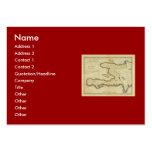 1814 Haiti Map by Mathew Carey Large Business Cards (Pack Of 100)
