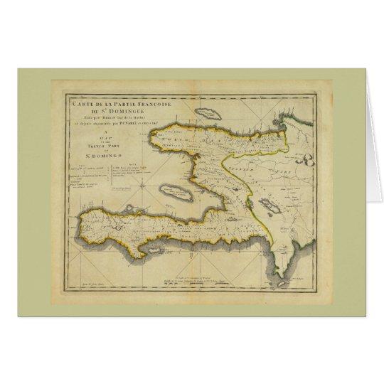 1814 Haiti Map by Mathew Carey Card
