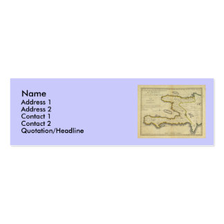 1814 Haiti Map by Mathew Carey Mini Business Card