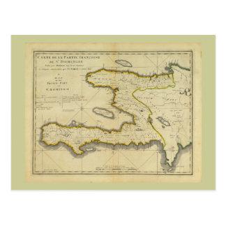 1814 Haiti Map by Mathew Carey Postcard
