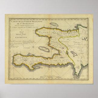 1814 Haiti Map by Mathew Carey Poster