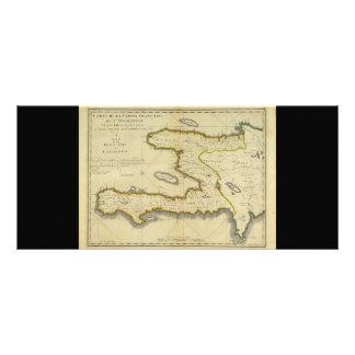 1814 Haiti Map by Mathew Carey Rack Card
