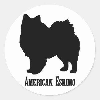 1815112006 American Eskimo (Animales) Classic Round Sticker