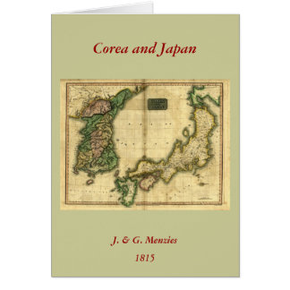 1815 Map of Korea and Japan Card
