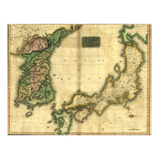 """1815 Map of Korea and Japan 8.5"""" X 11"""" Flyer"""