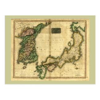 1815 Map of Korea and Japan Postcard
