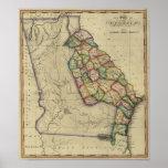 1817 el estado de Georgia del atlas de Samuel Lewi Póster