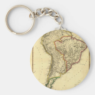 1817 Map of South America Basic Round Button Keychain