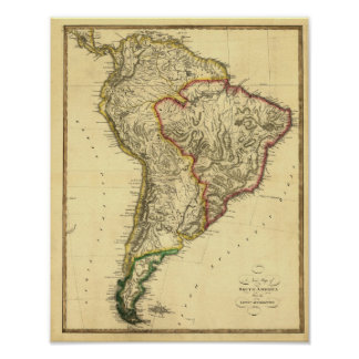 1817 Map of South America Posters