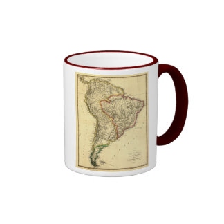 1817 Map of South America Ringer Mug